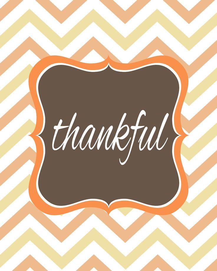 thankful free printable