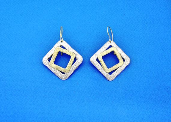 The Dices. Handmade Earrings. Silver Earrings. by GreeceJewelry