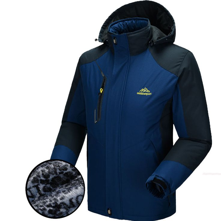 5XL Winter Softshell Jacket Men Outdoor Sport Thick Mens Jackets Male Waterproof Windproof Thermal Jackets For Camping Ski VA007
