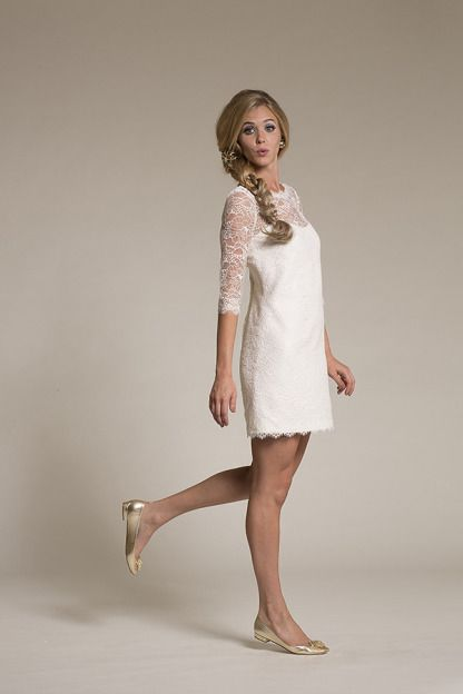 Perfect for a bridesmaid or a low-key bride: http://www.stylemepretty.com/lookbook/designer/amy-kuschel/ #SMPLookBook