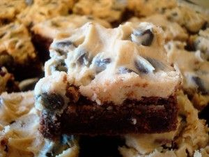 Cookie Dough Topped Brownies | Mel's Kitchen Cafe