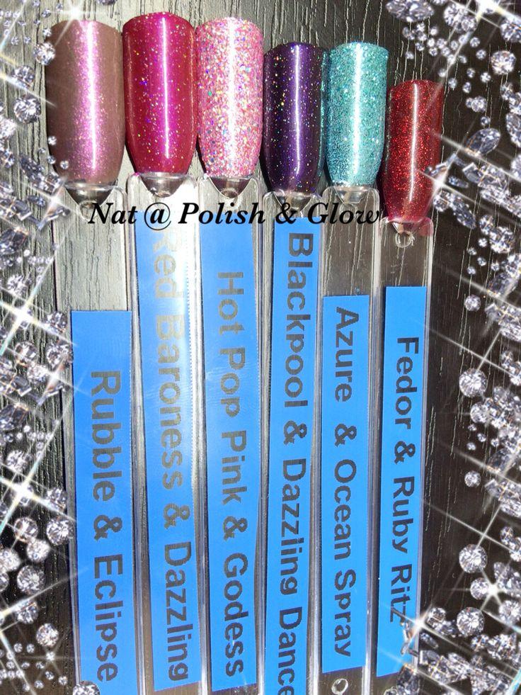 CND Shellac & Lecente Glitter combinations @ Polish & Glow
