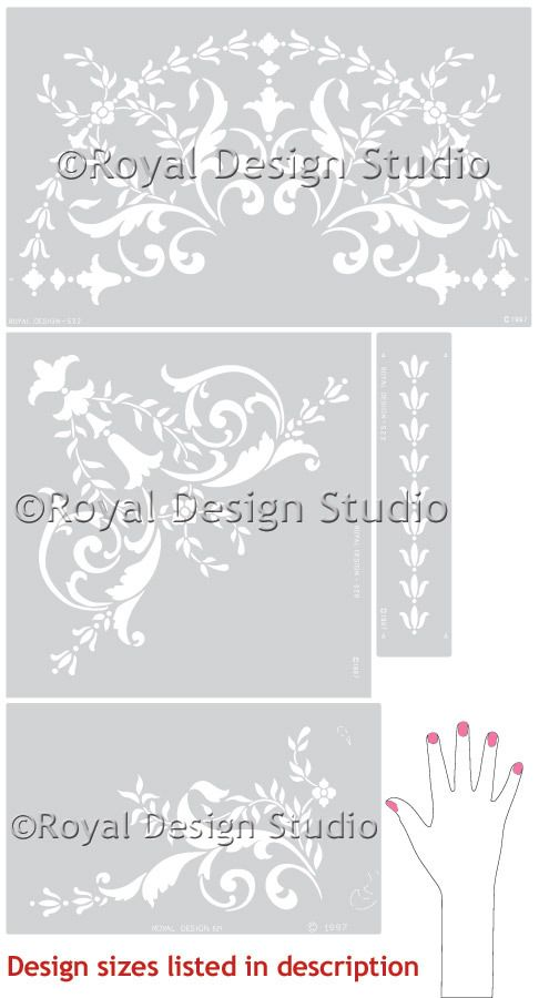 Stenciling the Ceiling - Classic Paint Stencils with European Design - Wall and Ceiling Medallion Stencils - Royal Design Studio