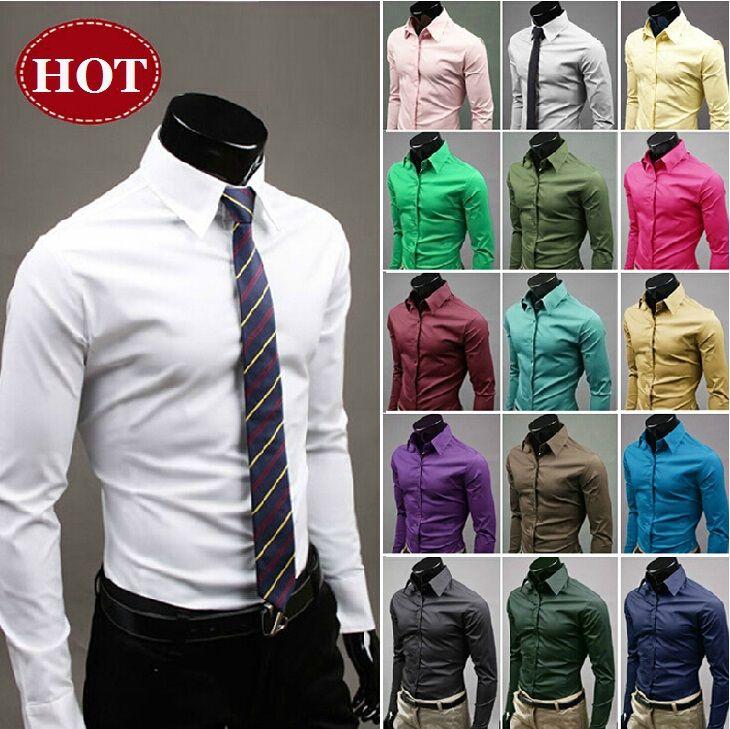 Дешевое 2014 высокое качество красочный сорочки для мужчин тонкий стильный мужская одежда большой размер мужчин свободного покроя платье рубашки бесплатная доставка, Купить Качество рубашки домашние муж. непосредственно из китайских фирмах-поставщиках:              размер таблицы вн