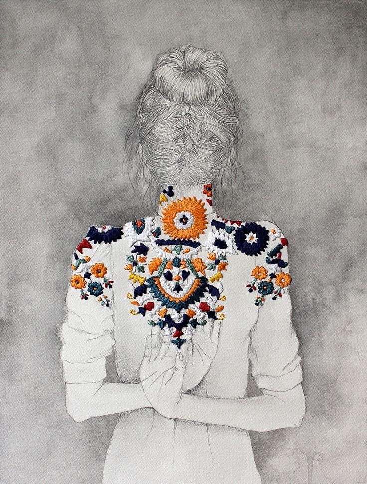 izziyana suhaimi embroidered illustrations