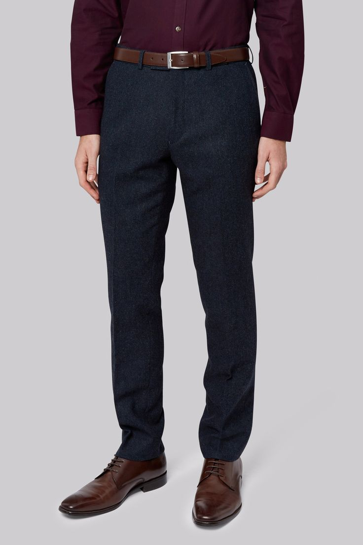 Moss London Blue Dongeal Trousers Look sharp and feel great in these slim fit trousers by Moss London. Tailored to fit your physique perfectly, they give just the right amount of hug and freedom of movement to the busy, modern man. Sl http://www.MightGet.com/january-2017-12/moss-london-blue-dongeal-trousers.asp