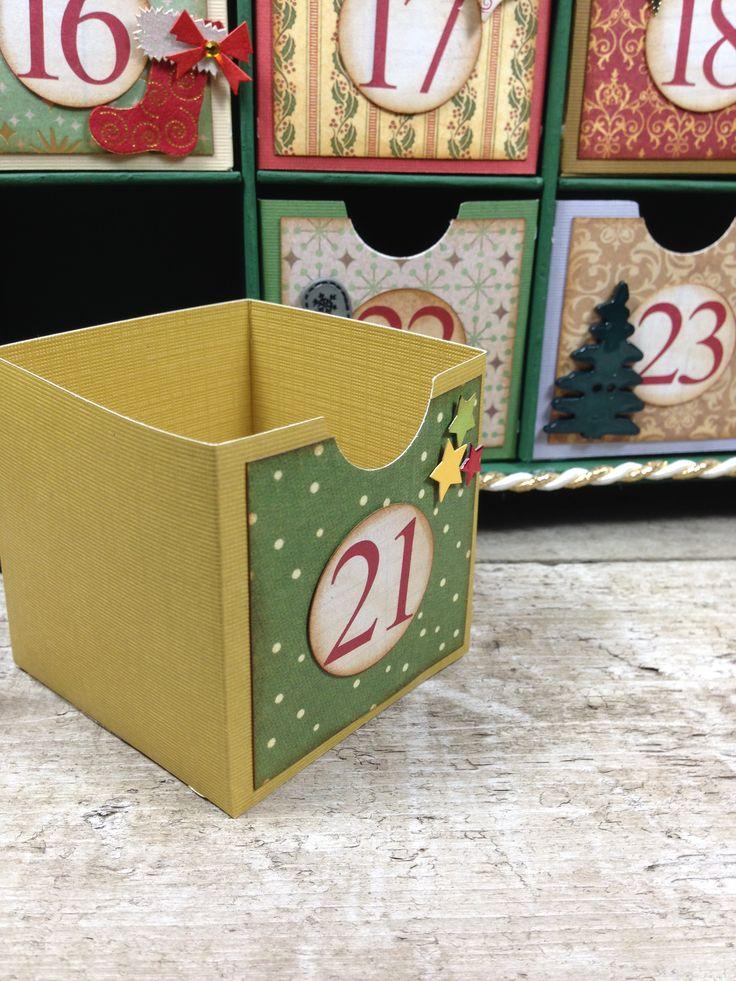 Advent calendar boxes by @Above Parr Crafts