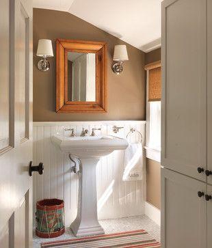 Coastal Cottage - traditional - powder room - providence - Kate Jackson Design