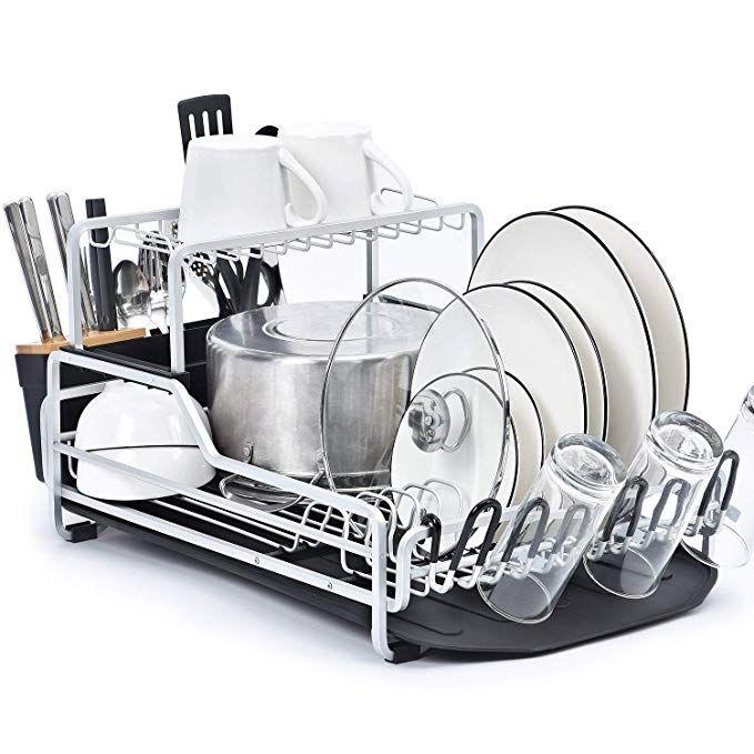 Kingrack Dish Rack 2 Tier Xxl Aluminum Dish Drying Rack With