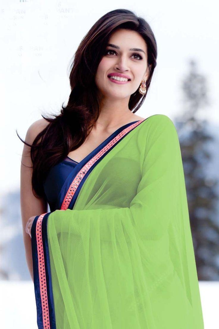 Heropanti Actress Kriti Sanon In Green Sare