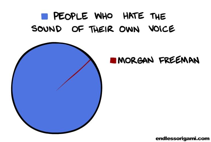 So true: Morgan Freeman, Giggl, Crazy Internet, Pies Charts, Morganfreeman, Humor, Funny Photo, Internet Photo, The Voice