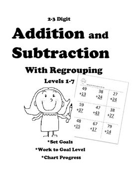 Leveled Math: Addition and Subtraction with Regrouping: 7