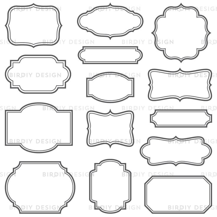 Vector labels, name tags, editable. Frame clipart, Art