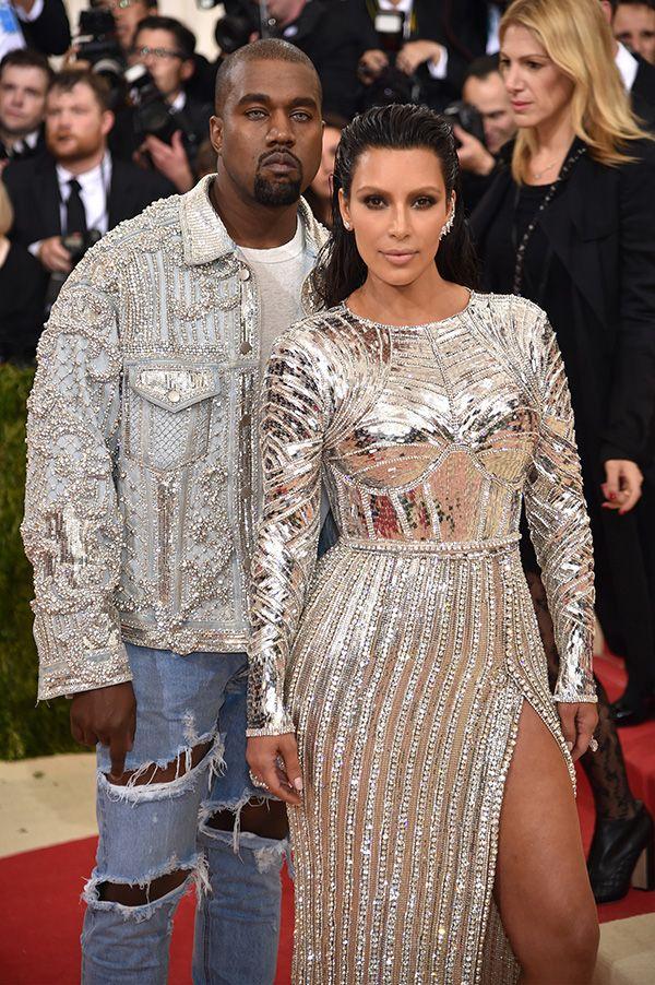 Kanye West And Kim Kardashian Attend The Manus X Machina Fashion In An Age Of Technolog Kim Kardashian And Kanye Kanye West And Kim Kim Kardashian Kanye West
