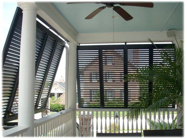 Porch shutters - another Idea for our stacked double porch- LJKoike