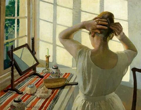 "Harold Harvey, ""Al tavolo da toeletta"", 1920"