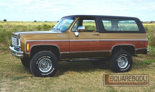 Truck 1975 Chevy Blazer Graphic Package Woodgrain Owner Lenny Kravitz Chevy Wood Grain C10 Trucks