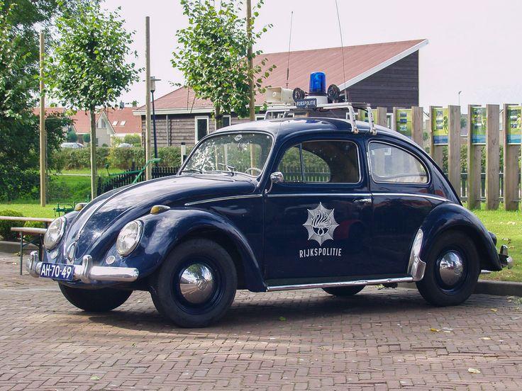 NETHERLANDS, FRIESLAND, TERHERNE VILLAGE, Volkswagen Rijkspolitie - phto by Frans Berkelaar