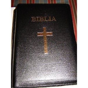 Limited Edition Leather Bible in Romanian / Biblia 087TI / Huge 18.5X27.5 cm size / Thumb index / Golden Edgaes / Genuine Leather / 2003 / 1223 Pages / Rumanian / Moldavian