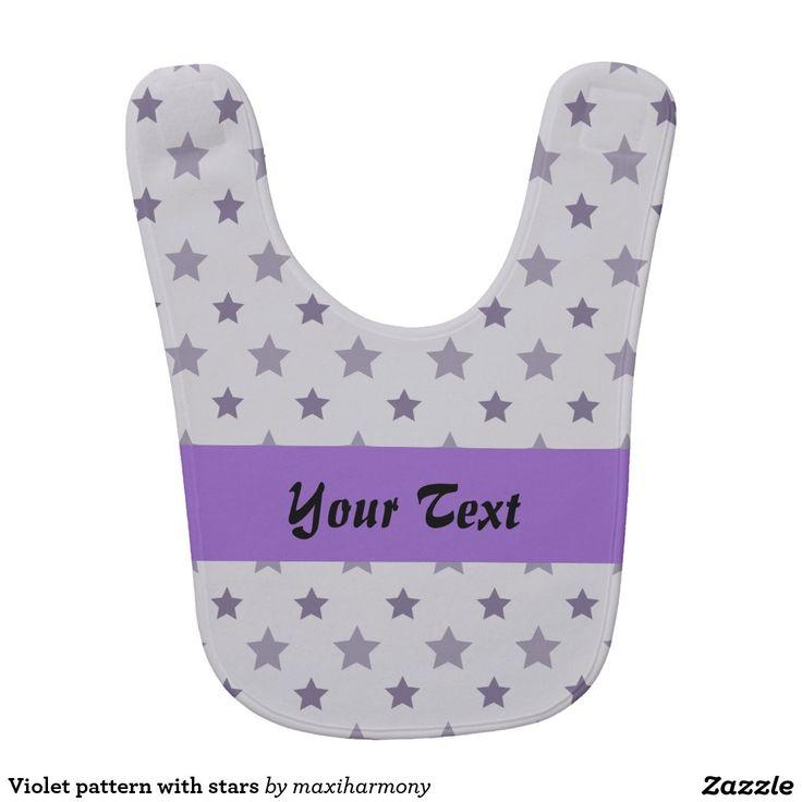 Violet pattern with stars bibs