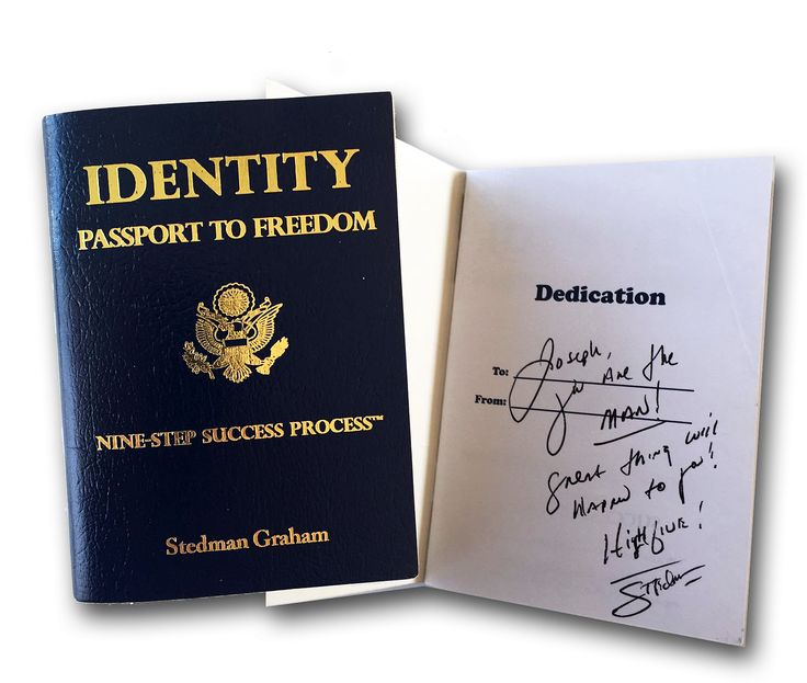 Passports are a form of legitimate identity, it's your freedom to the world.  Come learn on 14 March how Stedman Graham, Joseph Oubelkas and I learned the process of knowing who we are and being the same person under varying aspects or conditions in our lives.    https://www.eventbrite.com/e/identity-leadership-with-stedman-graham-joseph-oubelkas-charles-ruffolo-tickets-31596513021