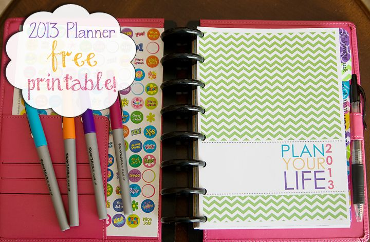 Free planner printable - great insight into health/exercise/menu planning aspect.