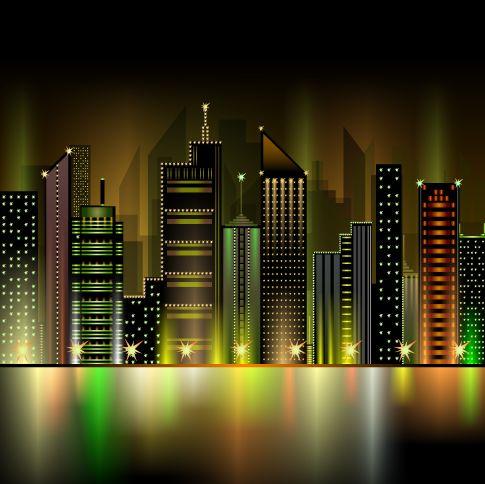 gran ciudad, imagen vectorial.