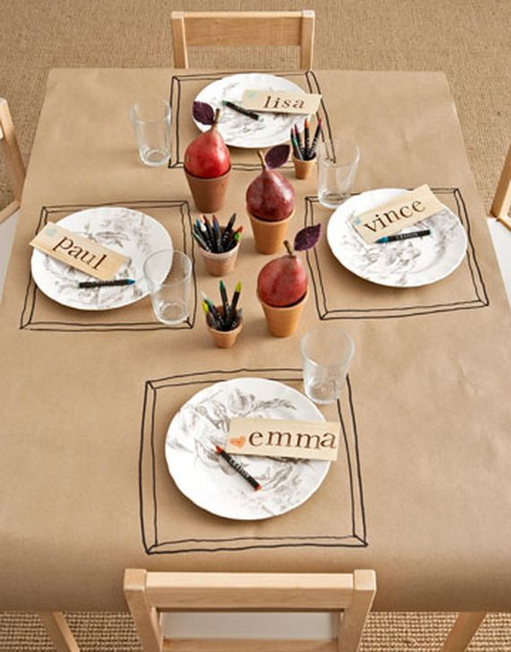 Thanksgiving Kids Table Decor Ideas