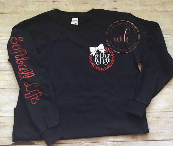 Softball life  softball shirt  girls softball shirt