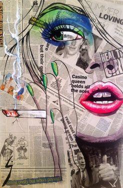 """Saatchi+Online+Artist+Conrad+Jones;+Painting,+""""Smok'in+Ivy""""+#art"""