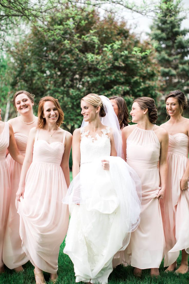 679 best bridesmaids images on pinterest creative wedding blush bridesmaid dresses lindsay campbell photography ombrellifo Gallery