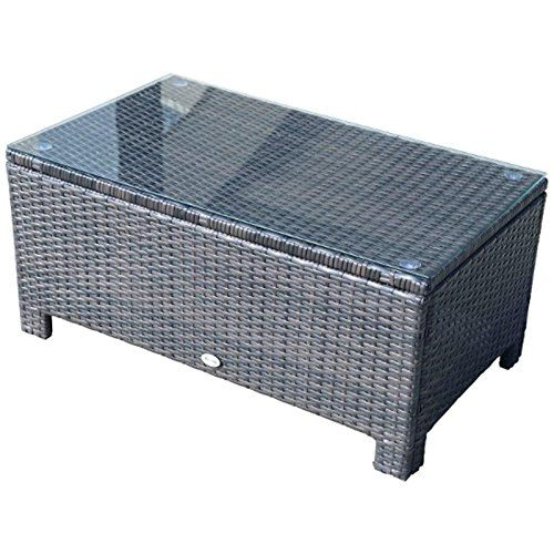 Coffee Table W  Metal Frame Tempered Glass Brown   PE rattan  UV resistant. 892 best images about Rattan Tables on Pinterest   Maze  Rattan
