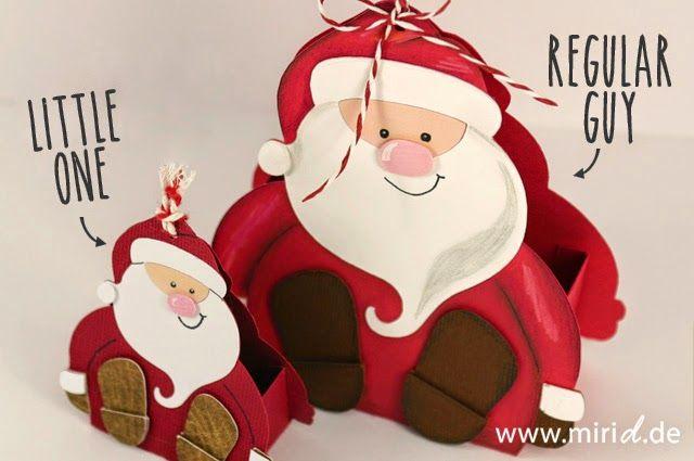 Santa gift box. Silhouette plotter template available at www.plottermarie.de. Blog post contains link to the shop. Geschenkschachtel Santa. Die Silhouette Plotter Vorlage gibt es bei www.plottermarie.de. Der Blog Post enthält den Link zum Shop.
