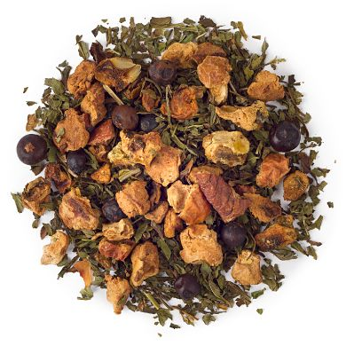 Cold 911: peppermint and eucalyptus flavors. Perky and refreshing tea when feeling under the weather.