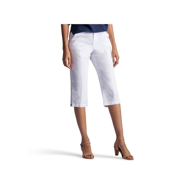 Women's Lee Lorelie Relaxed Fit Skimmer Capris, Size: 4 - regular, White