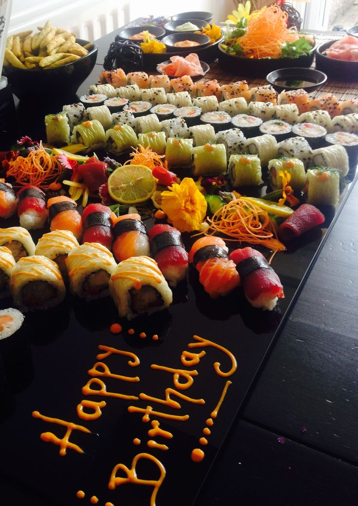 Happy Birthday Sushi bar - Menu ideas for your office catering and team building dinner. Check out here >>>