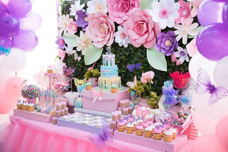 Butterflies and Flowers Birthday Party Birthday Party Ideas | Photo 8 of 17 | Catch My Party