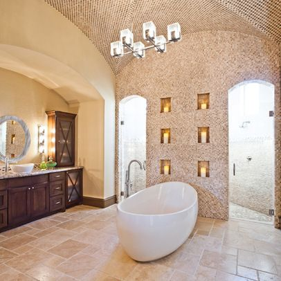 Artistic Wall Tiles Design In Large Traditional Bathroom Home Design Ideas