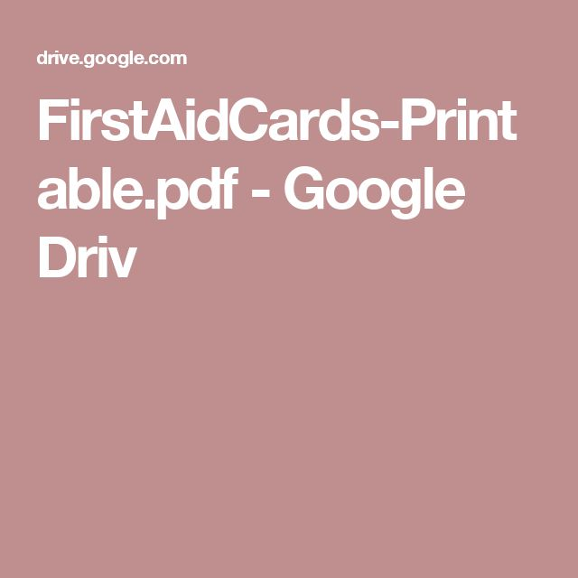 FirstAidCards-Printable.pdf - Google Driv