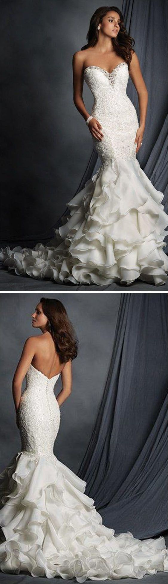 Unique 50+ Elegant Lace Mermaid Wedding Dresses https://bridalore.com/2017/11/10/50-elegant-lace-mermaid-wedding-dresses/