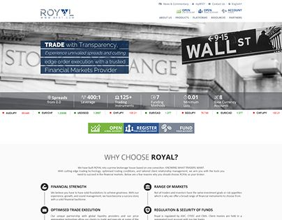 """Check out new work on my @Behance portfolio: """"Royal Website"""" http://be.net/gallery/54842767/Royal-Website"""