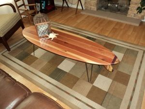 love surfboard coffee table