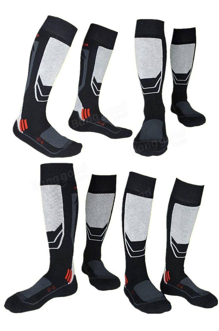 Men's Thick Cotton Socks Towel Bottom Warm Stockings Outdoor Sport Ski Socks…