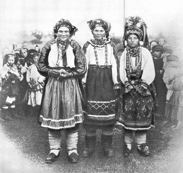 Фото. Праздничная и повседневная сельская одежда. Этнография. Старинный русский костюм