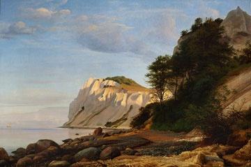 P.C. Skovgaard (1817-1875): Parti fra Møns Klint, 1852