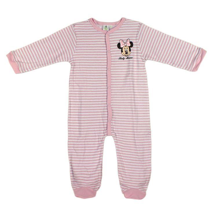 Pelele de bebé niña para los primeros meses de vida. Se trata de un pijama de cuerpo entero que se abrocha al frente y entre las piernas de la bebé. Es una prenda cómoda para que duerma la pequeña y de fácil colocación.