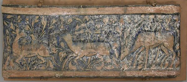 Tile Panel Object Name: Tile panel Date: first half 14th century Geography: Iran Culture: Islamic Classification: Ceramics-Tiles