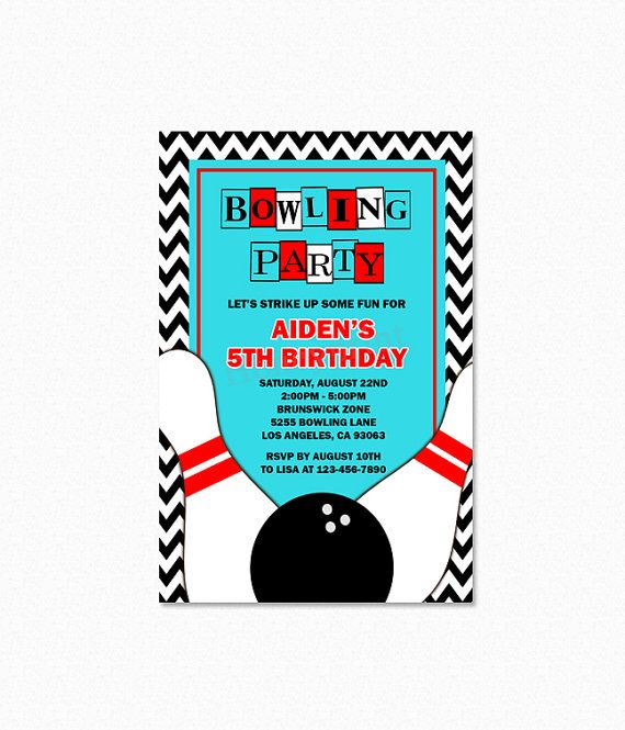 Best Bowling Birthday Party Ideas Images On