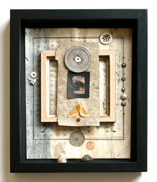 Haiku Kit #1 - Shadow box assemblage by Janet Jones