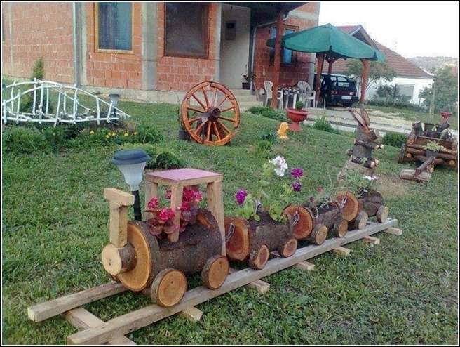 Log Planter Train